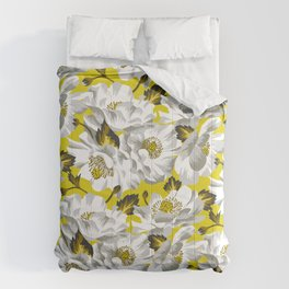Mount Cook Lily - Yellow/White Comforters