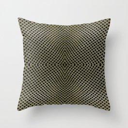 Metallic Radial Texture with Black Holes Throw Pillow