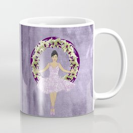 Ballerina Orchid Wreath Coffee Mug