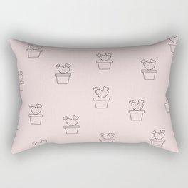 Blush Cactus Hearts Rectangular Pillow
