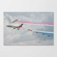 Virgin Atlantic with the Red Arrows Canvas Print