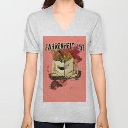 Fahrenheit 451 Unisex V-Neck