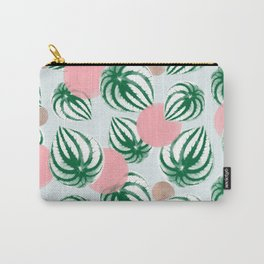 Watermelon Peperomia Pattern Carry-All Pouch