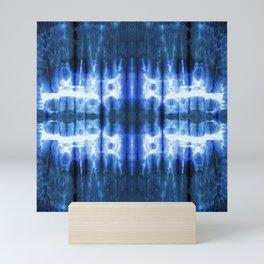 Lapis Shibori Stripe Mini Art Print