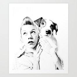 Goofy'n'me Art Print