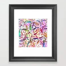 abstract roses silhouettes Framed Art Print