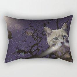 Skat Cat Rectangular Pillow