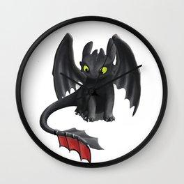 Toothless Night Fury Inspired Dragon Wall Clock