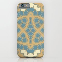 interlaced beige iPhone Case