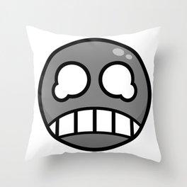 Scared Gray! Throw Pillow