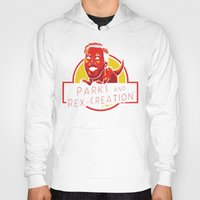 parks and recreation Hoodies featuring Parks and Rex Creation - Jurassic World by Tabner's