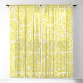 Lemon Slices and Lemonade Sheer Curtain