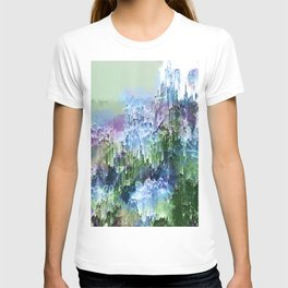 Wild Nature Glitch - Blue, Green, Ultra Violet #nature #homedecor T-shirt
