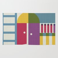 library Area & Throw Rugs featuring Summertime's library by sansanfab