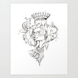 H O O K + E D Art Print
