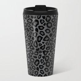 Gray and Black Exotic Leopard Animal Pattern Travel Mug