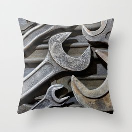 Group of old wrenches Throw Pillow