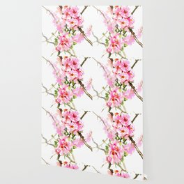 Cherry Blossom, pink floral art Wallpaper