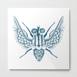 Angelic Fly Metal Print
