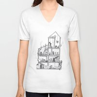 home sweet home V-neck T-shirts featuring Home Sweet Home by Zorko
