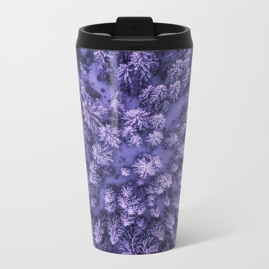 Aerial Pine Metal Travel Mug