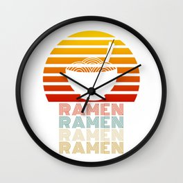 Ramen Life Japanese Noodles Vintage Retro Style Gift Wall Clock