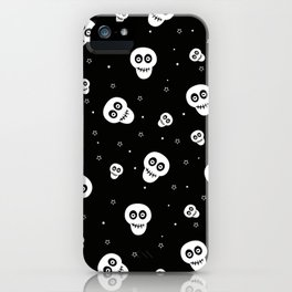 Skull and Stars Pattern iPhone Case