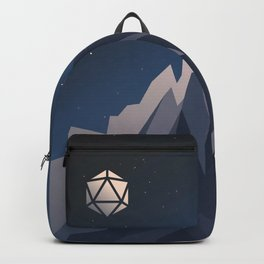 Icy Mountain Summit D20 Dice Night Tabletop RPG Landscape Backpack