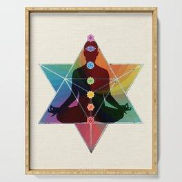 Merkaba Chakra Meditation Serving Tray