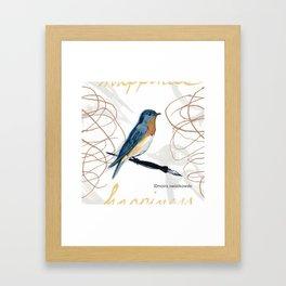 Bluebird of Happiness Framed Art Print