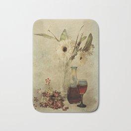 Wine And Wildflowers Bath Mat