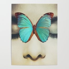 Eyes Closed Butterfly Poster