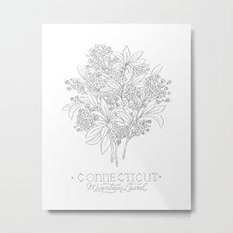 Connecticut Sketch Metal Print