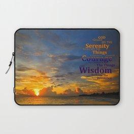 Serenity Prayer Sunset By Sharon Cummings Laptop Sleeve