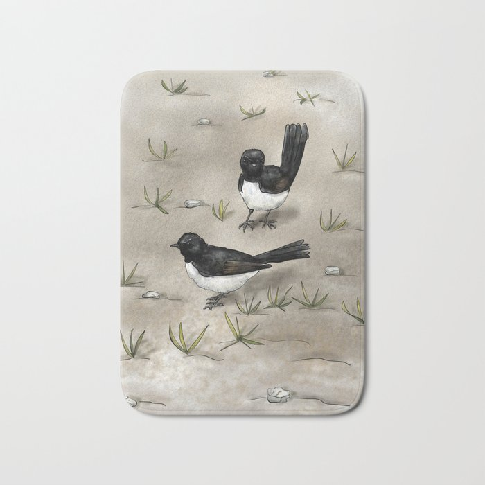 Willie Wagtails Bath Mat