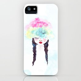 Creative mind Creative soul - watercolors girl iPhone Case