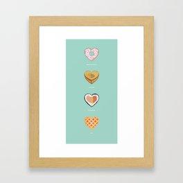 Breakfast, lunch, dinner, pie! Framed Art Print