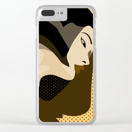A red-haired woman4 Clear iPhone Case