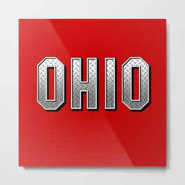 Ohio Plated Metal Print