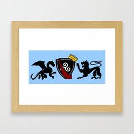 Merlin (Merthur) Crest Framed Art Print