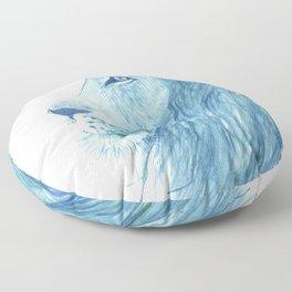 Blue Majestic Lion Floor Pillow