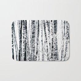 Birch Trees In Winter Bath Mat