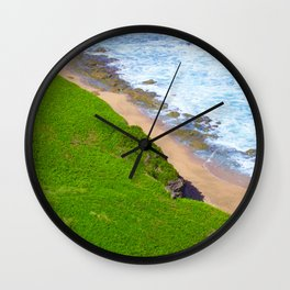 Land Meets Sea Wall Clock
