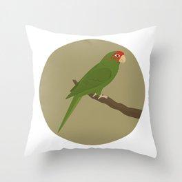 Mitred Parakeet Throw Pillow