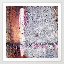 Wall Texture/Paint Abstraction 1 Art Print