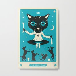 TAROT CARD CAT: THE MAGICIAN Metal Print