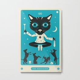 TAROT CARD CAT: THE MAGICIAN Metal Print