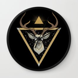 Mystic Deer Wall Clock