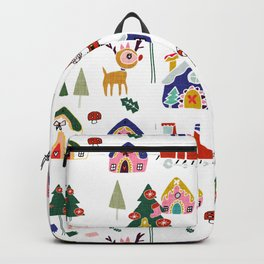 Santa Claus White #Christmas #Holiday Backpack