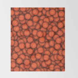 Basketball balls pattern Throw Blanket